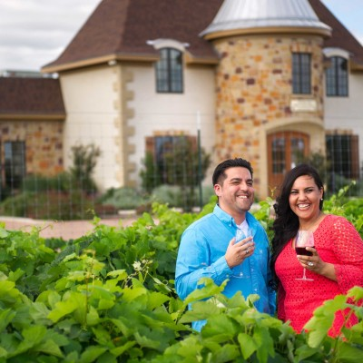 Happy Couple Wine Tasting - Fredericksburg, Texas