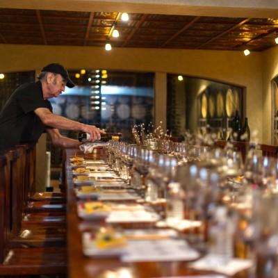Becker Vineyards wine cellar - private dinner