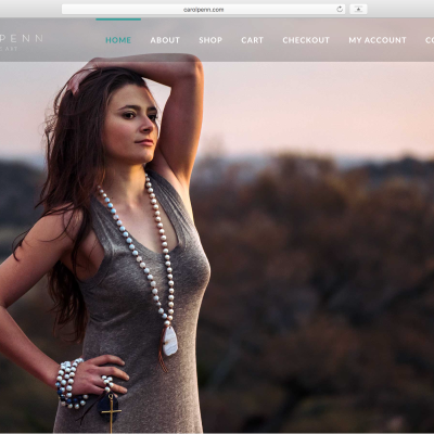 Carol Penn Jewelry Website Design by Blake Mistich
