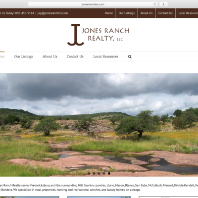 Jones Ranches website design by Blake Mistich